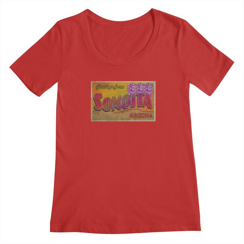 Sonoita, AZ. Women's Regular Scoop Neck by Nuttshaw Studios