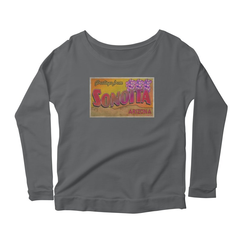 Sonoita, AZ. Women's Scoop Neck Longsleeve T-Shirt by Nuttshaw Studios