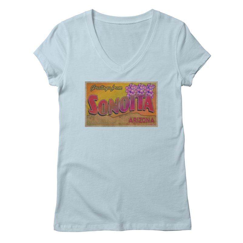 Sonoita, AZ. Women's Regular V-Neck by Nuttshaw Studios