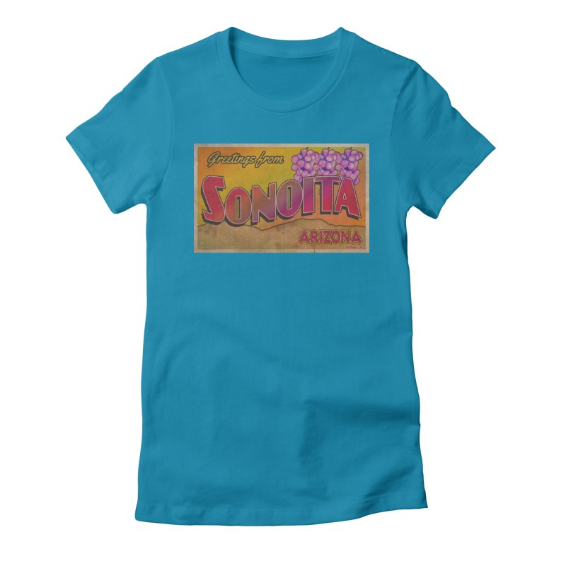 Sonoita, AZ. Women's Fitted T-Shirt by Nuttshaw Studios
