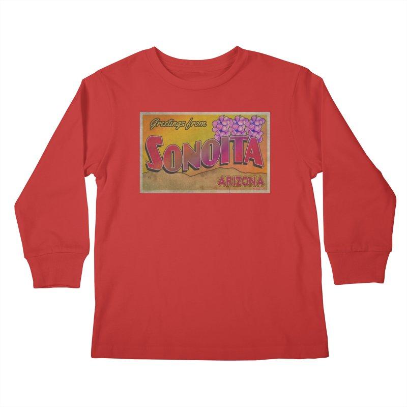 Sonoita, AZ. Kids Longsleeve T-Shirt by Nuttshaw Studios