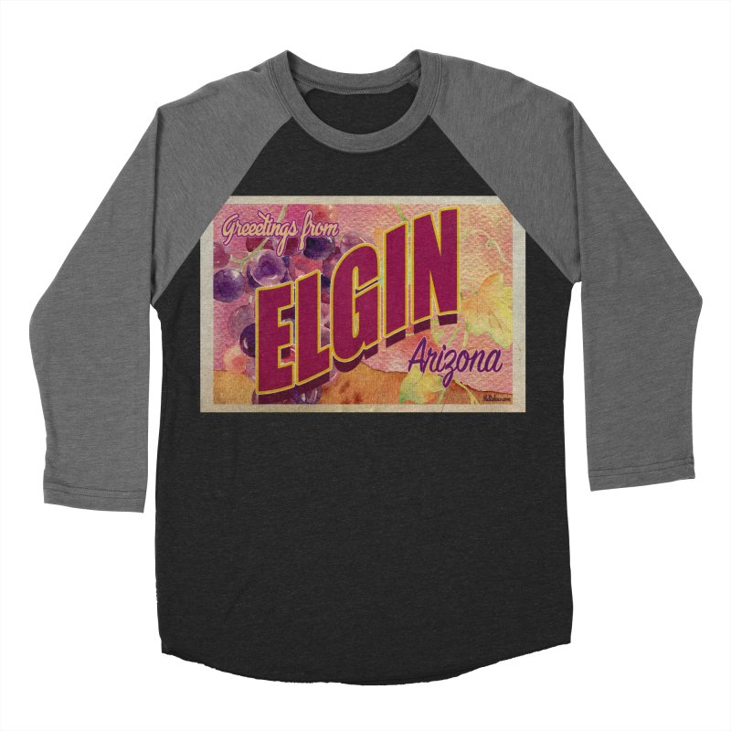 Elgin, AZ. Men's Baseball Triblend Longsleeve T-Shirt by Nuttshaw Studios
