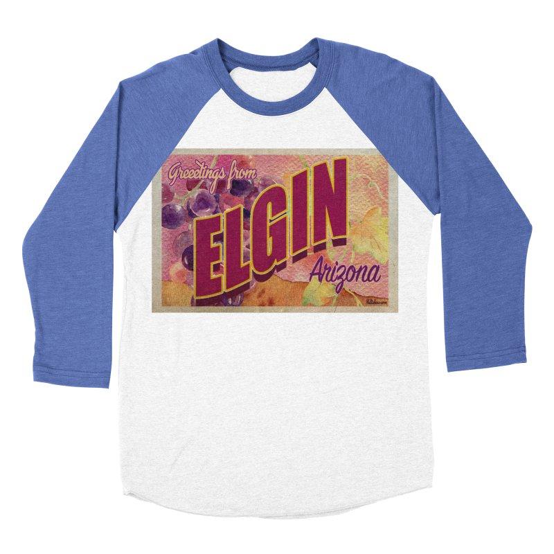 Elgin, AZ. Men's Baseball Triblend Longsleeve T-Shirt by Nuttshaw Studios