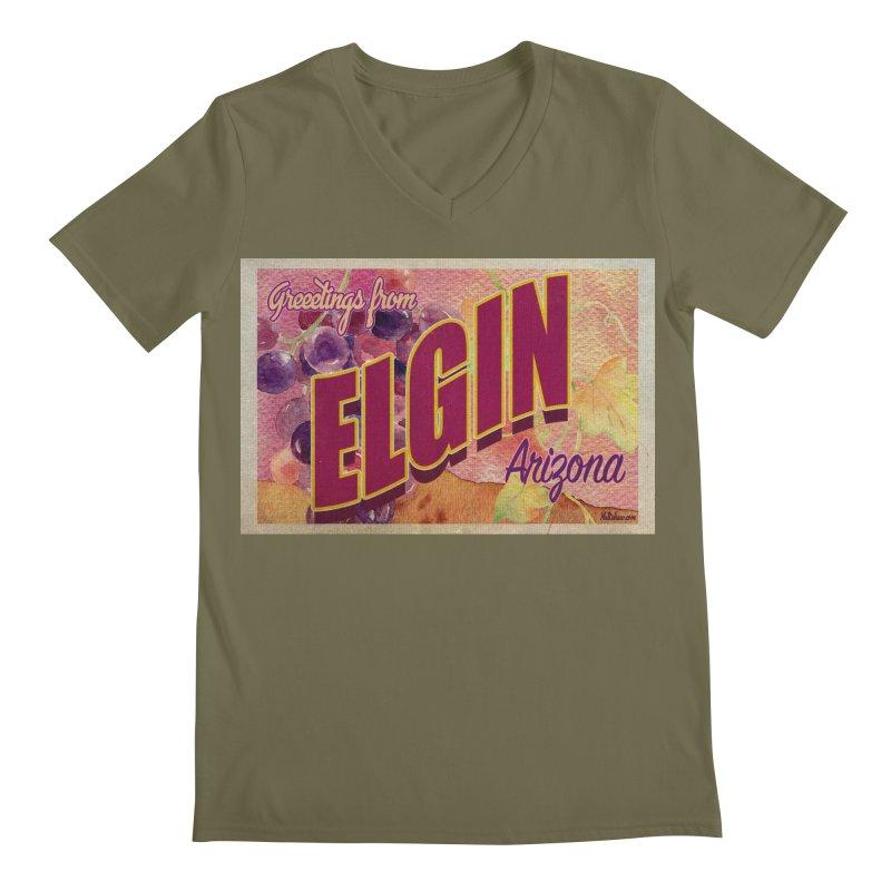 Elgin, AZ. Men's Regular V-Neck by Nuttshaw Studios