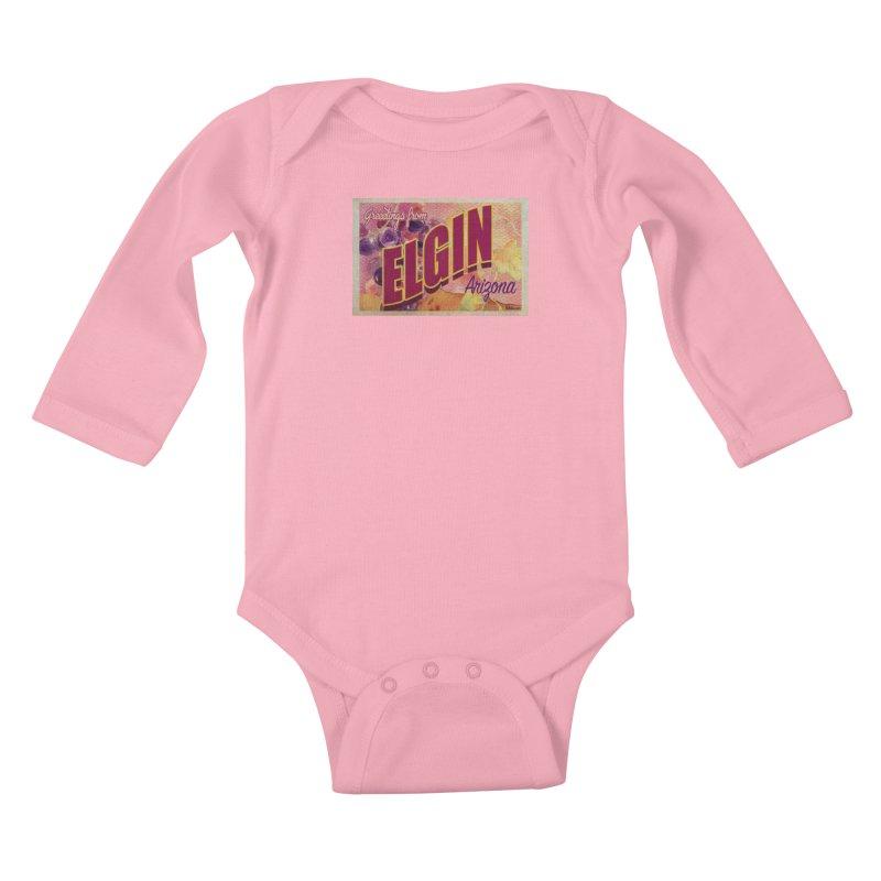Elgin, AZ. Kids Baby Longsleeve Bodysuit by Nuttshaw Studios