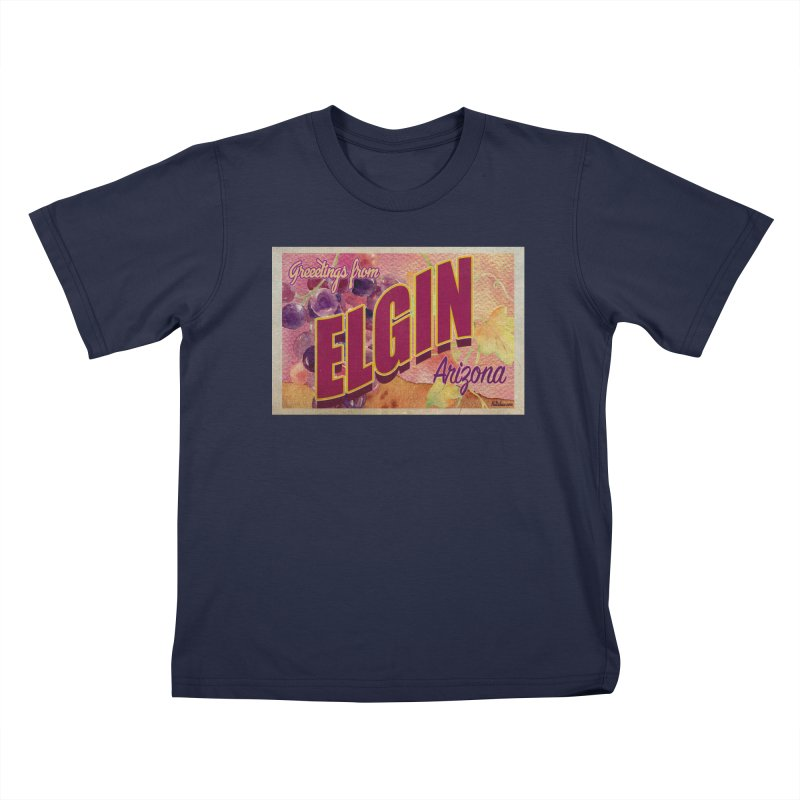 Elgin, AZ. Kids T-Shirt by Nuttshaw Studios