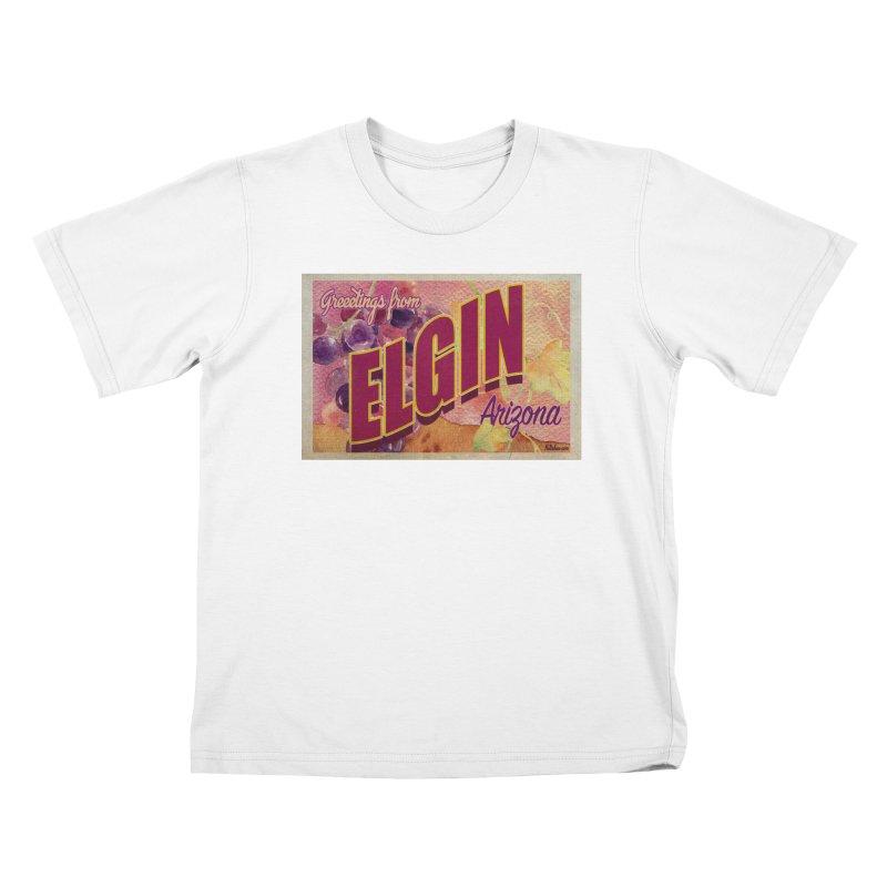 Elgin, AZ. Kids T-Shirt by Nuttshaw Studios
