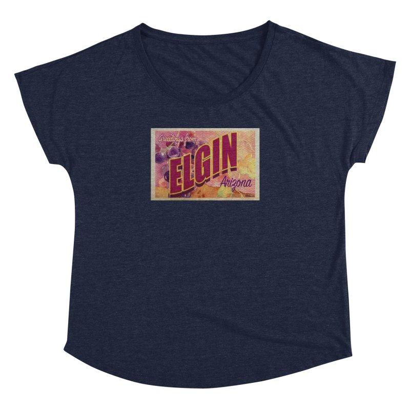 Elgin, AZ. Women's Dolman Scoop Neck by Nuttshaw Studios