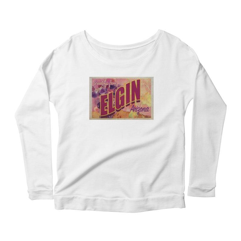 Elgin, AZ. Women's Scoop Neck Longsleeve T-Shirt by Nuttshaw Studios