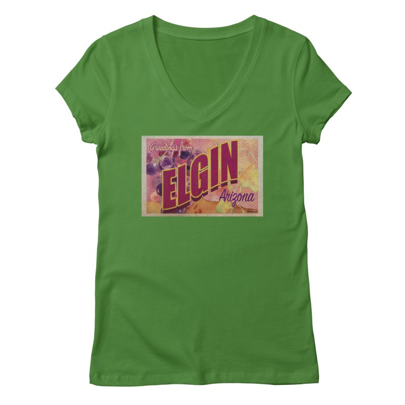 Elgin, AZ. Women's Regular V-Neck by Nuttshaw Studios