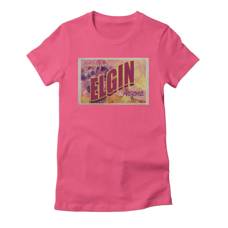 Elgin, AZ. Women's Fitted T-Shirt by Nuttshaw Studios