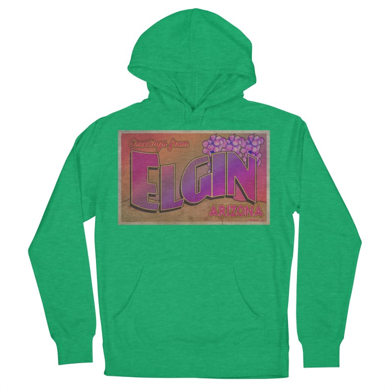 Elgin, AZ. Men's French Terry Pullover Hoody by Nuttshaw Studios