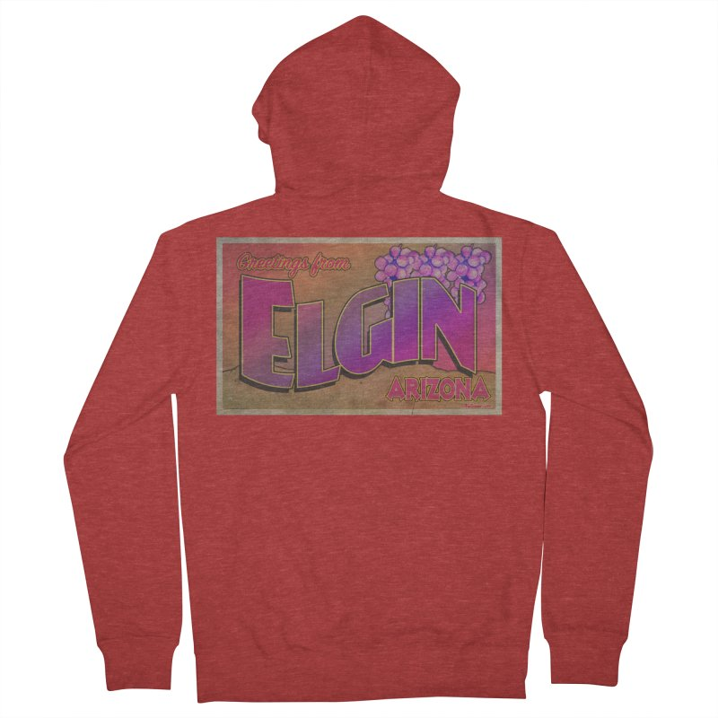 Elgin, AZ. Women's French Terry Zip-Up Hoody by Nuttshaw Studios