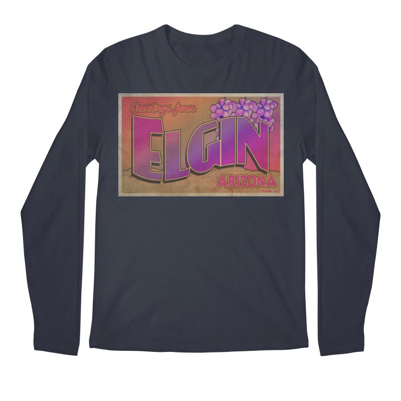 Elgin, AZ. Men's Regular Longsleeve T-Shirt by Nuttshaw Studios