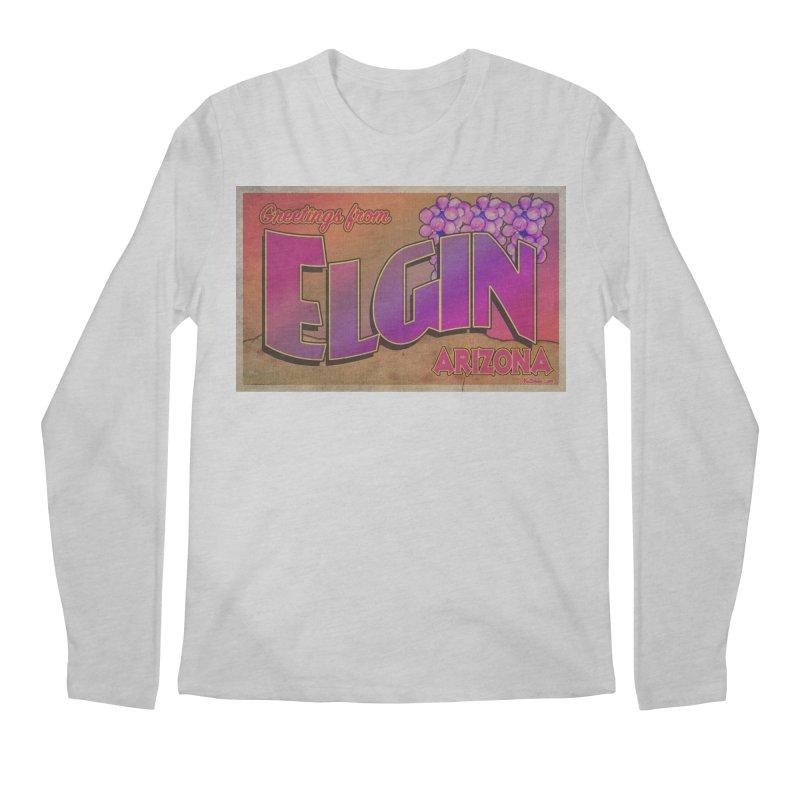 Elgin, AZ. Men's Regular Longsleeve T-Shirt by Nuttshaw Studios