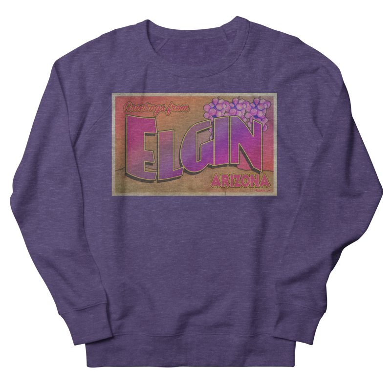 Elgin, AZ. Women's French Terry Sweatshirt by Nuttshaw Studios