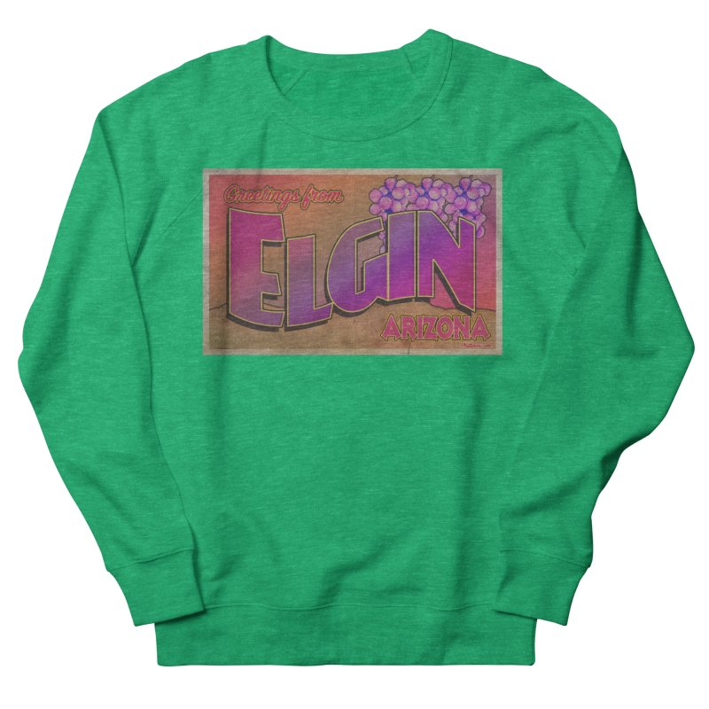 Elgin, AZ. Men's French Terry Sweatshirt by Nuttshaw Studios