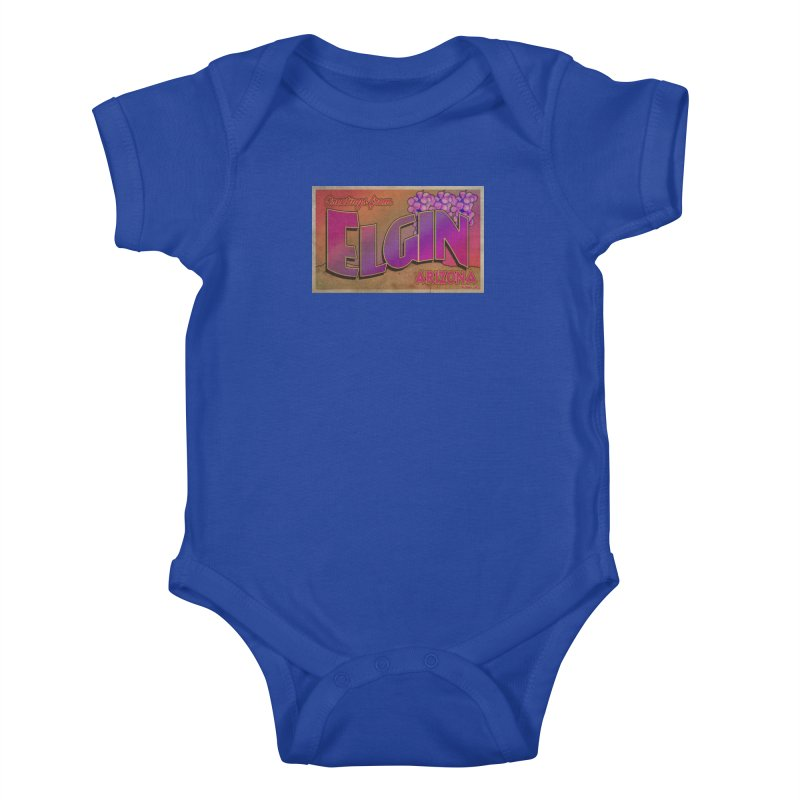 Elgin, AZ. Kids Baby Bodysuit by Nuttshaw Studios