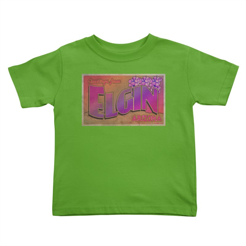 Elgin, AZ. Kids Toddler T-Shirt by Nuttshaw Studios