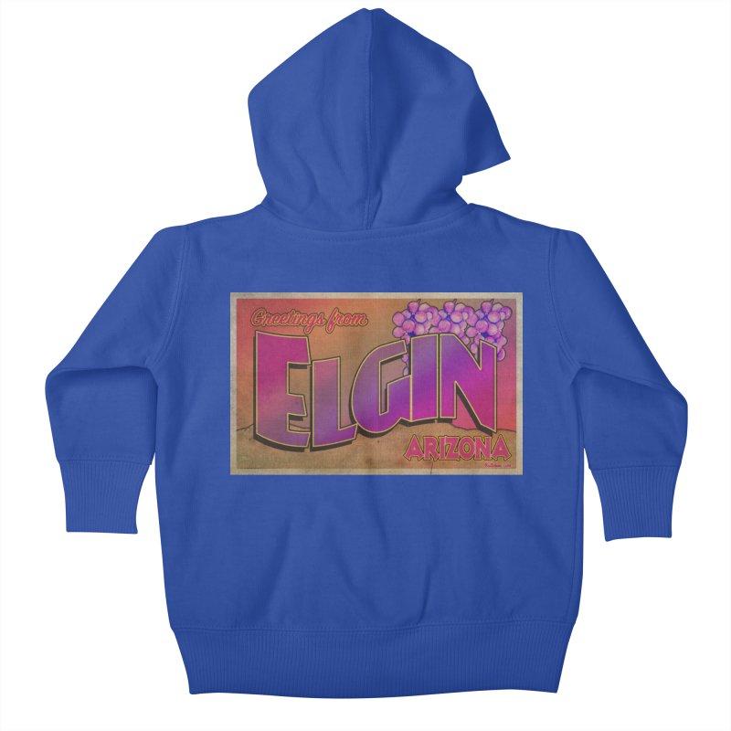 Elgin, AZ. Kids Baby Zip-Up Hoody by Nuttshaw Studios