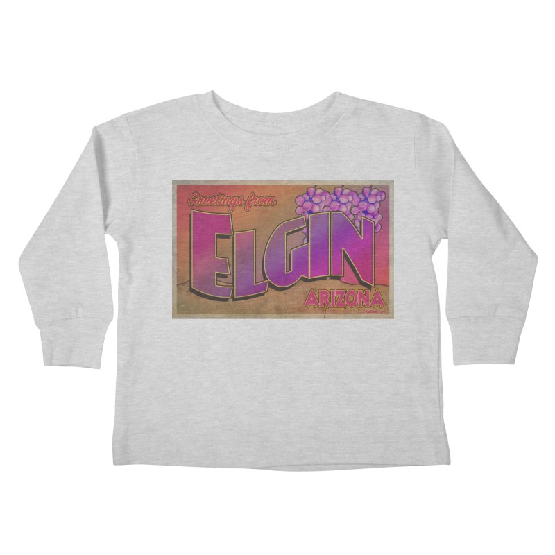 Elgin, AZ. Kids Toddler Longsleeve T-Shirt by Nuttshaw Studios