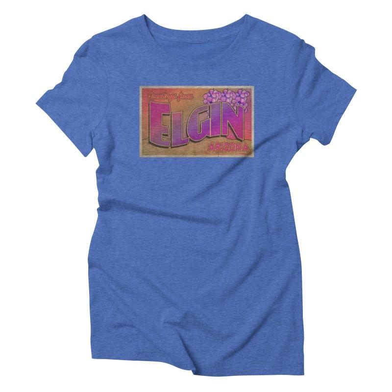 Elgin, AZ. Women's Triblend T-Shirt by Nuttshaw Studios