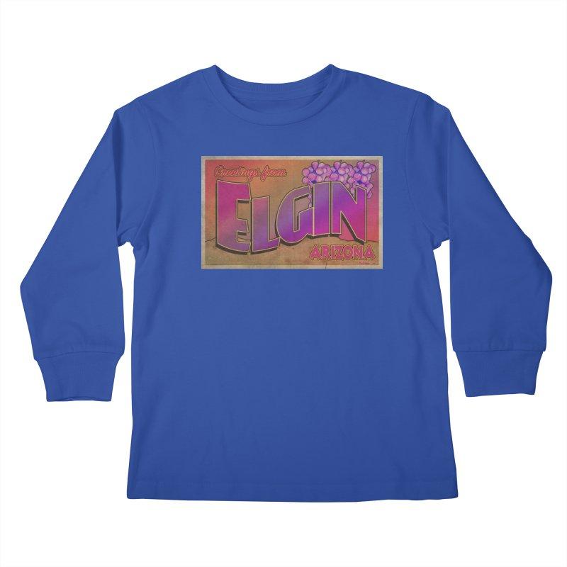 Elgin, AZ. Kids Longsleeve T-Shirt by Nuttshaw Studios