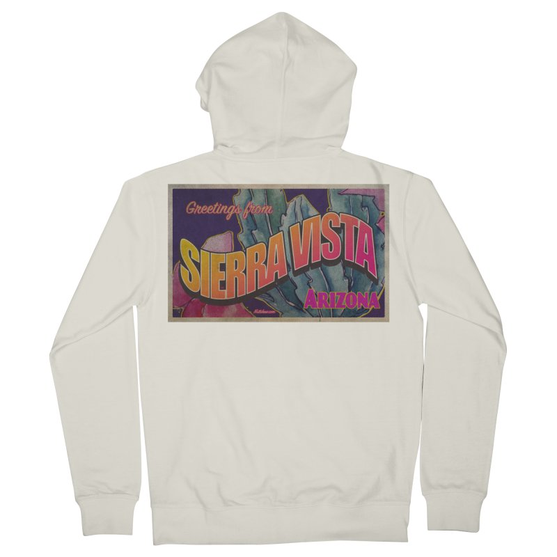 Sierra Vista, AZ. Women's French Terry Zip-Up Hoody by Nuttshaw Studios