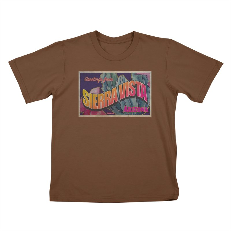 Sierra Vista, AZ. Kids T-Shirt by Nuttshaw Studios