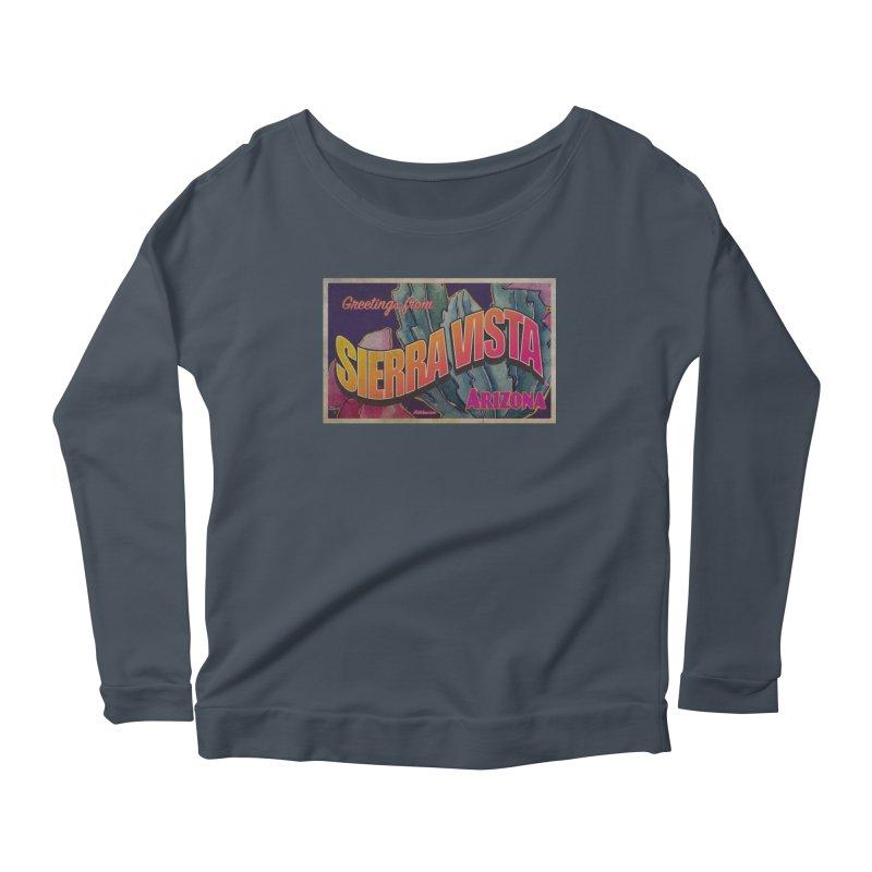 Sierra Vista, AZ. Women's Scoop Neck Longsleeve T-Shirt by Nuttshaw Studios