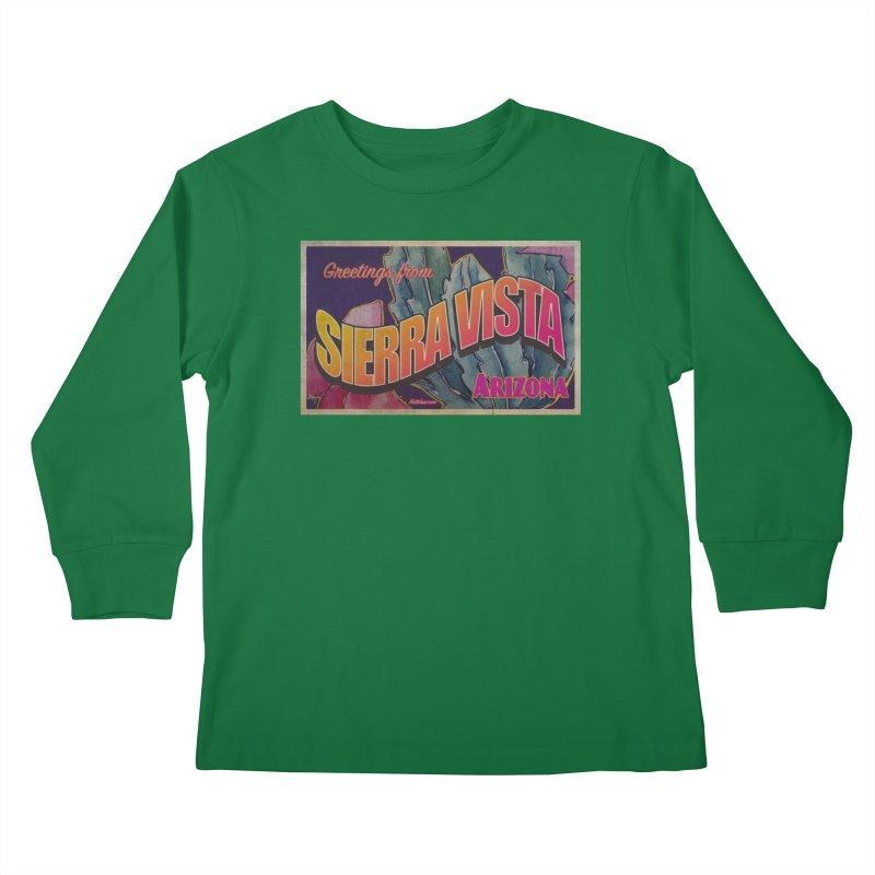 Sierra Vista, AZ. Kids Longsleeve T-Shirt by Nuttshaw Studios