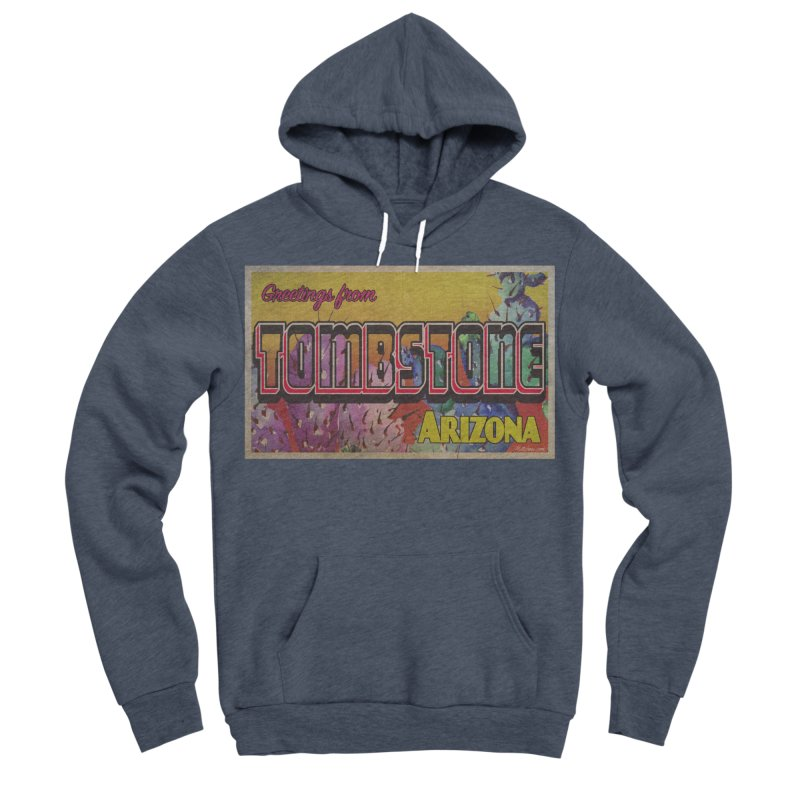 Tombstone, AZ Men's Sponge Fleece Pullover Hoody by Nuttshaw Studios