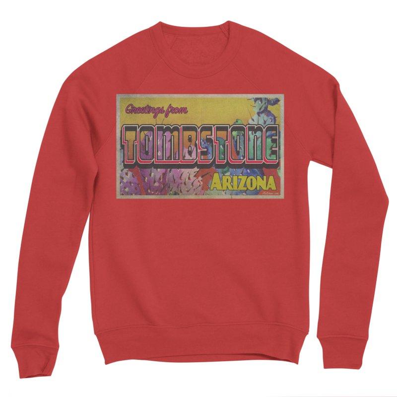 Tombstone, AZ Men's Sponge Fleece Sweatshirt by Nuttshaw Studios