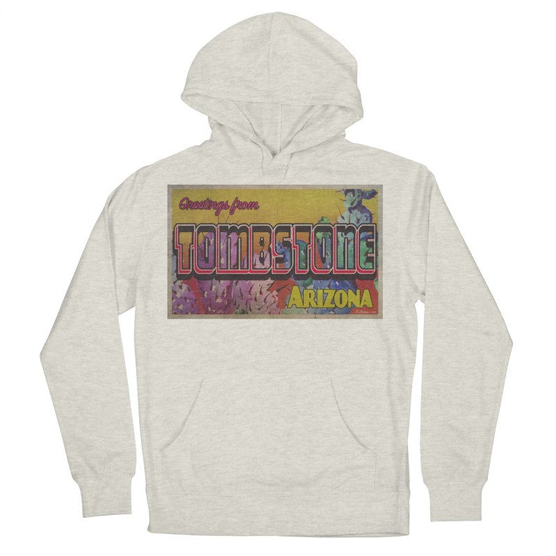 Tombstone, AZ Men's French Terry Pullover Hoody by Nuttshaw Studios