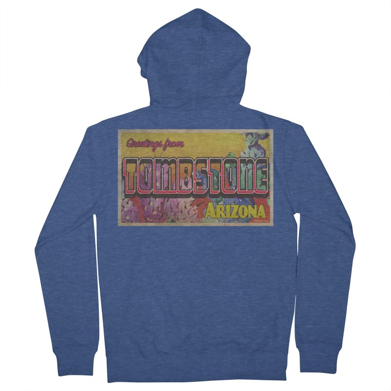 Tombstone, AZ Women's French Terry Zip-Up Hoody by Nuttshaw Studios