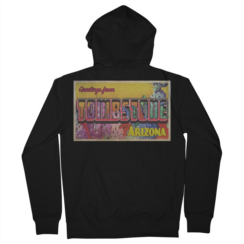Tombstone, AZ Men's French Terry Zip-Up Hoody by Nuttshaw Studios