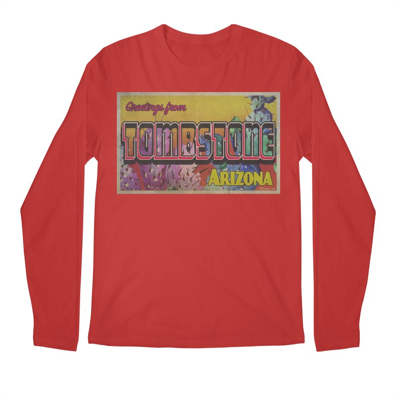 Tombstone, AZ Men's Regular Longsleeve T-Shirt by Nuttshaw Studios