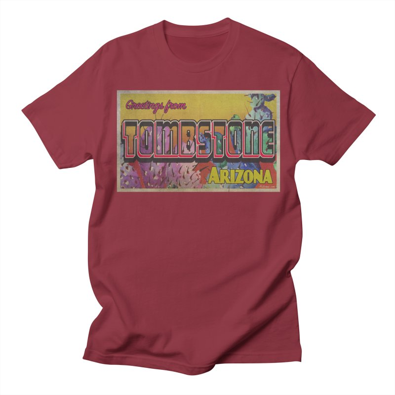 Tombstone, AZ Men's Regular T-Shirt by Nuttshaw Studios