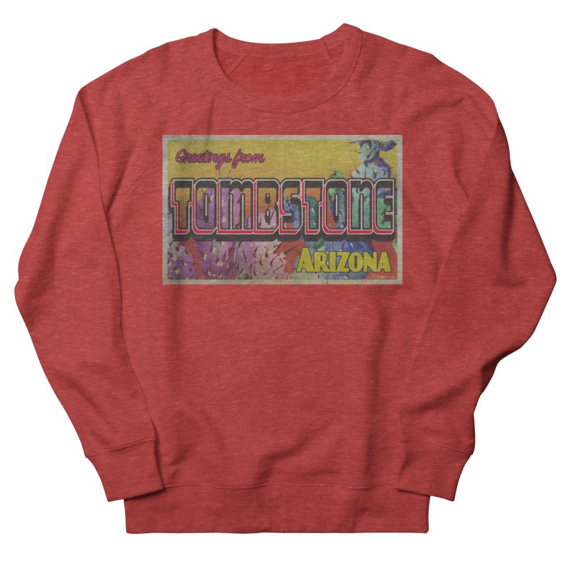 Tombstone, AZ Women's French Terry Sweatshirt by Nuttshaw Studios