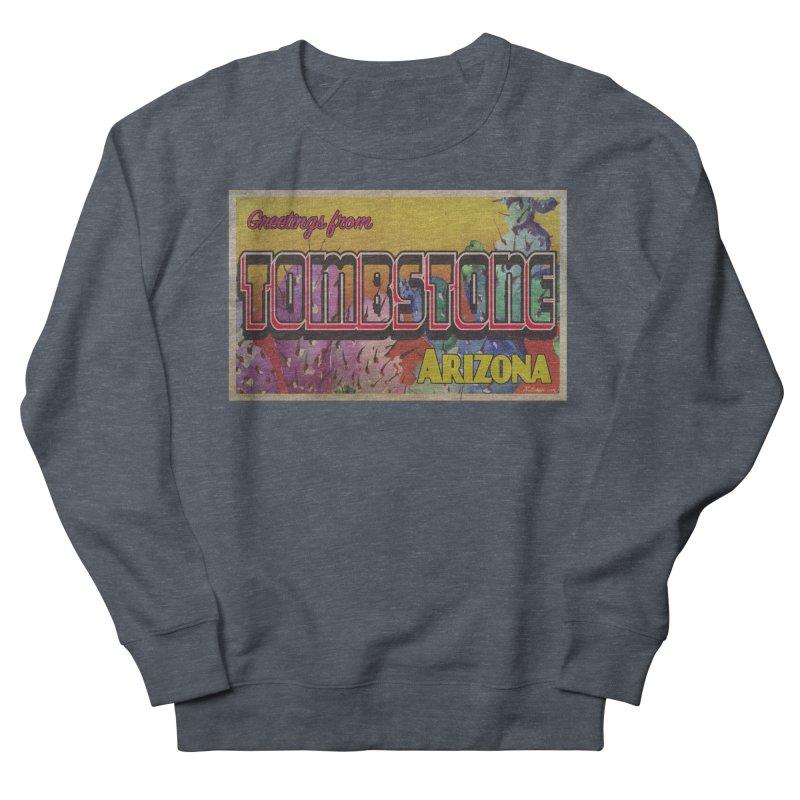 Tombstone, AZ Men's French Terry Sweatshirt by Nuttshaw Studios