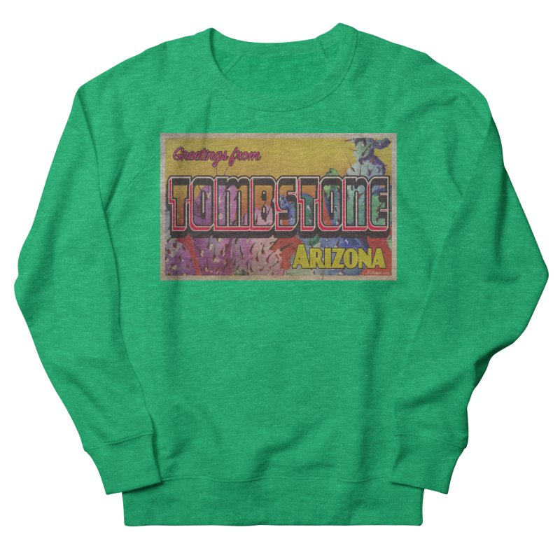 Tombstone, AZ Men's French Terry Sweatshirt by Nuttshaw Studios