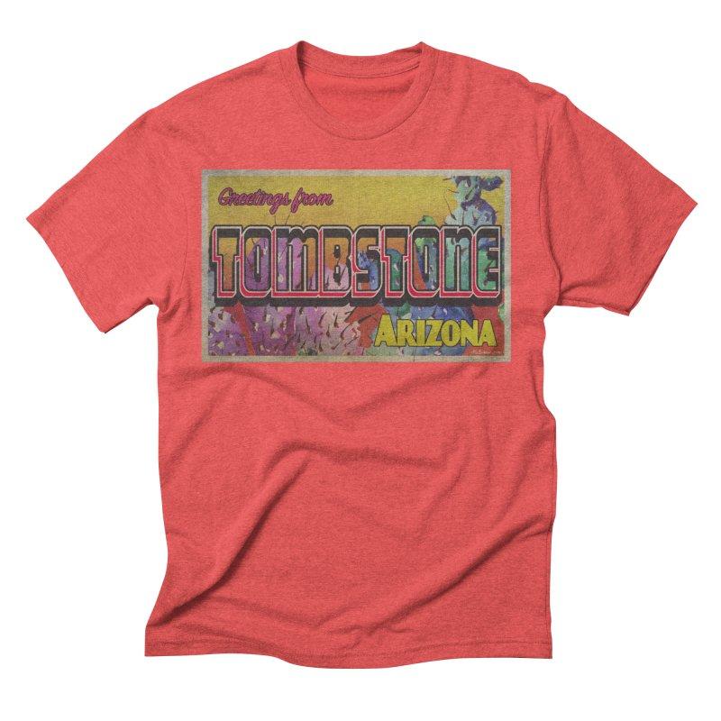 Tombstone, AZ Men's Triblend T-Shirt by Nuttshaw Studios