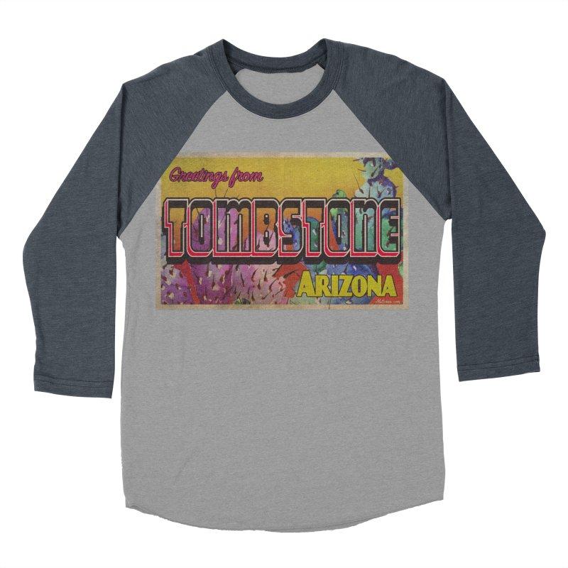 Tombstone, AZ Men's Baseball Triblend Longsleeve T-Shirt by Nuttshaw Studios