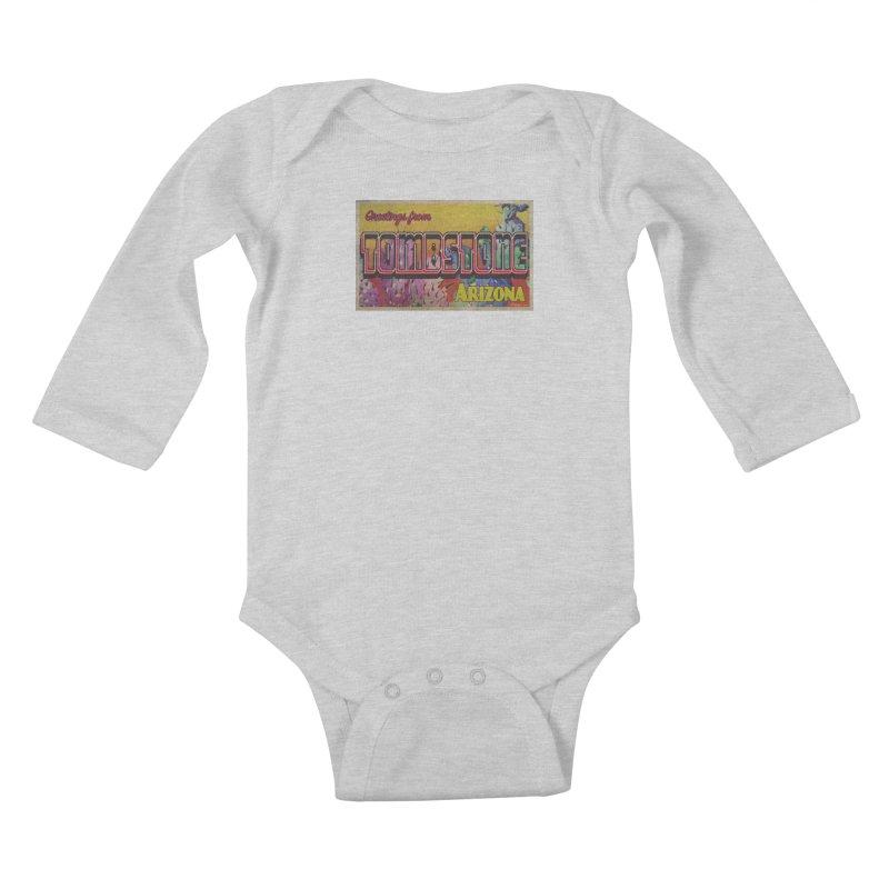 Tombstone, AZ Kids Baby Longsleeve Bodysuit by Nuttshaw Studios