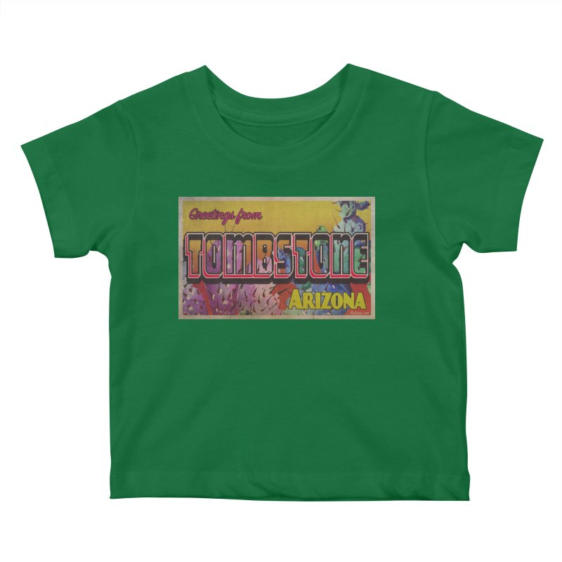Tombstone, AZ Kids Baby T-Shirt by Nuttshaw Studios