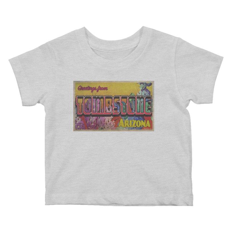 Tombstone, AZ Kids Baby T-Shirt by Nuttshaw Studios