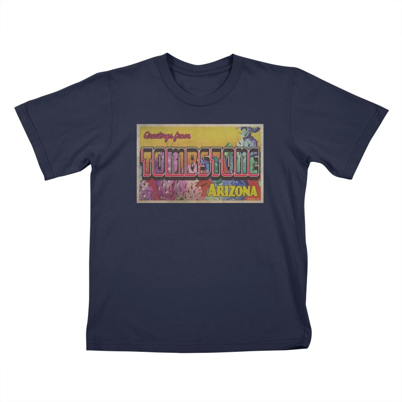 Tombstone, AZ Kids T-Shirt by Nuttshaw Studios