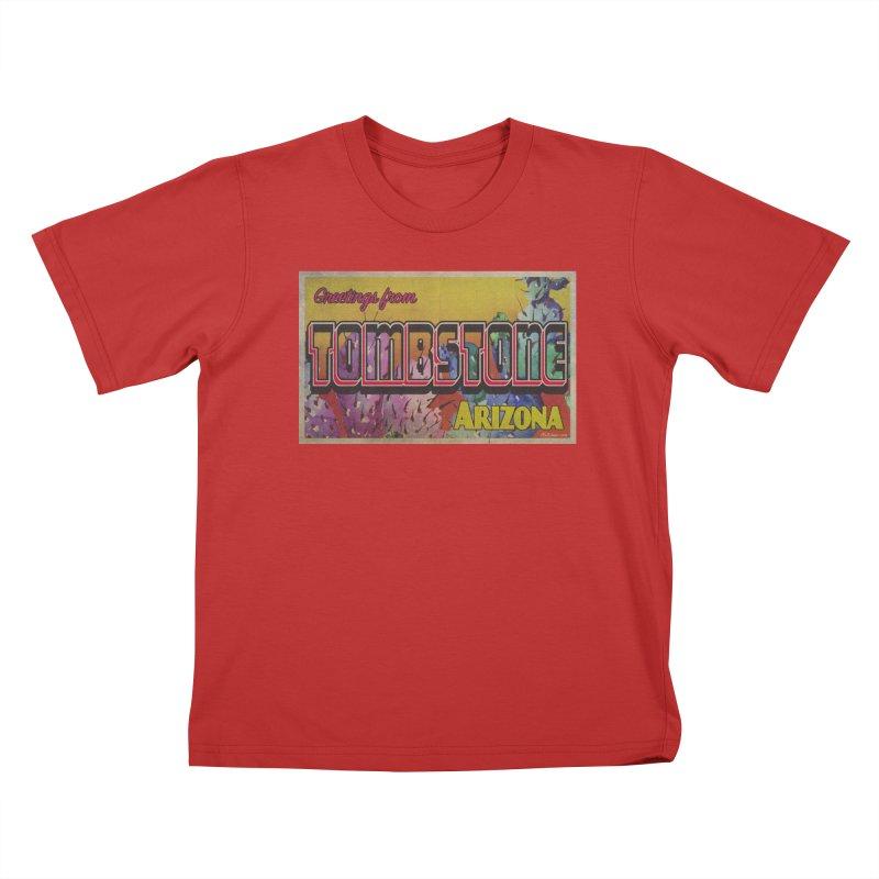 Tombstone, AZ Kids T-Shirt by Nuttshaw Studios