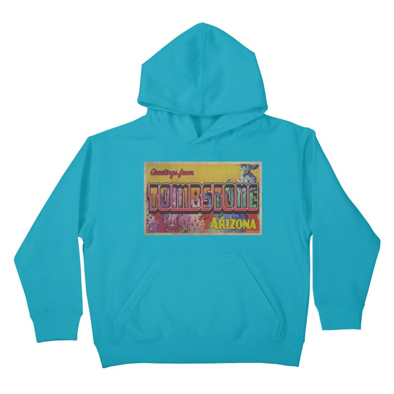 Tombstone, AZ Kids Pullover Hoody by Nuttshaw Studios