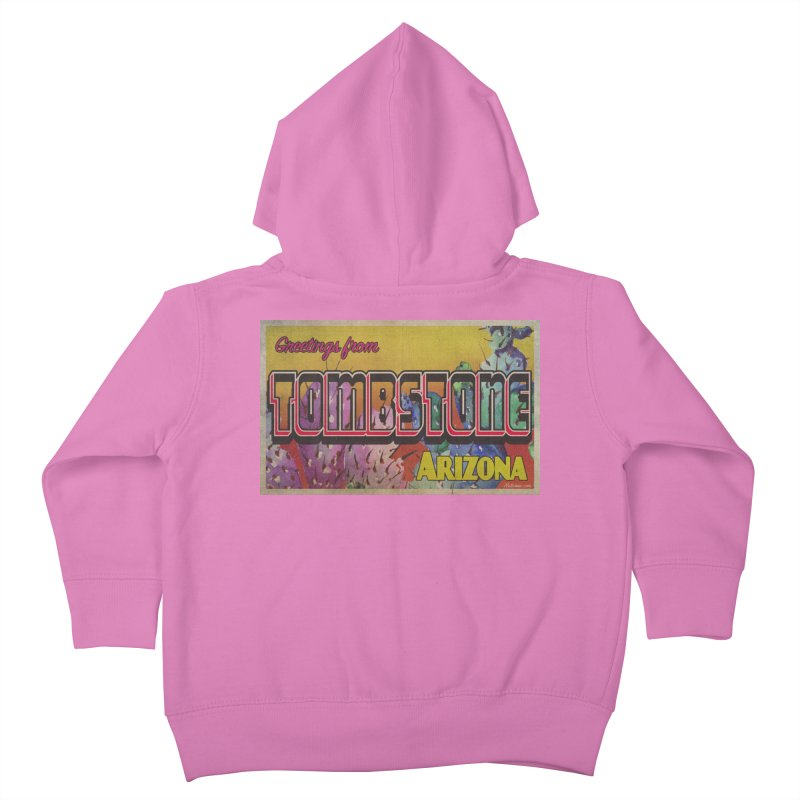 Tombstone, AZ Kids Toddler Zip-Up Hoody by Nuttshaw Studios